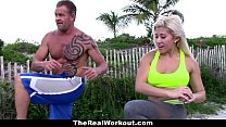 TheRealWorkout - Busty Blonde Trainer Fucks Client