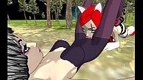 Riven Bunny & Katarina Kat Playing Outside