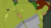 เชรคยักษ์เขียวเอากับเจ้าหญิงผิวขาวเนียนสวยก่อนจะแปลงร่างเป็นยักษ์ทั้งคู่โดจิน
