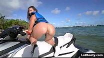 Beautiful sexy big ass brunette Kelsi Monroe