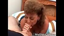 Sexy brunette MILF sucks hard dick