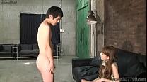 CFNM Japanese femdom Ruri like to watch a young...