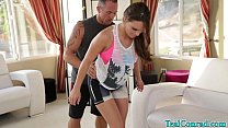 Babe Teal Conrad Gets More Then Workout with Tr...