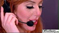 (Lauren Phillips) Round Big Boobs Office Girl L...