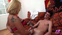 Spanish blonde psychologist sucks and fucks her...