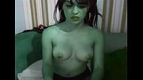 Beautiful latina webcam girl FLASHSQUIRTX fucking her dildo 2