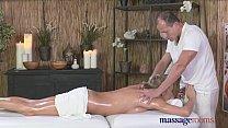 Massage Rooms Tall horny blonde sucks and fucks... thumb