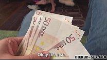 Busty babe Chloe Lacourt railed for cash
