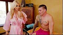 sexy blonde masseuse takes big cock. Free webca...)