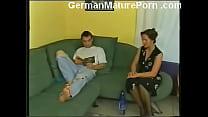 German granny fucking young guy