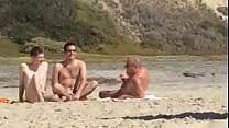 guys caught jerking at nude beach