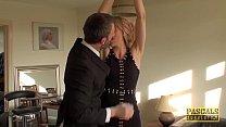 Punished Brit MILF swallows warm cum of her big...