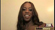 Ebony in a huge bukkake 26