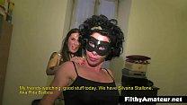 The muscular whore Rita Balboa in amateur orgy thumb