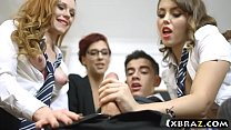 Exchange student welcomes by teens and their ho...