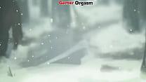 GamerORGASM.com ▶ Aria Pussy Eating on Snow