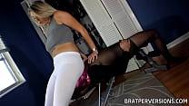 White Leggings Facesitting with Nikki Brooks