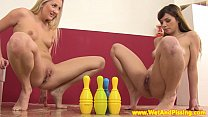 watersport lesbos play piss pin bowling