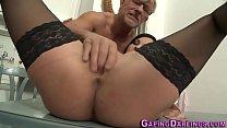 Sexy babe gives footjob
