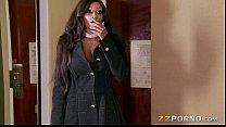 Busty ebony call girl Diamond Jackson loves huge cock in her muff