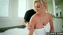 Sexy blonde Katy Jayne fucked hard in the bathroom