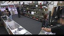 Amazing little bimbo is making a reality sex movie scene in shop