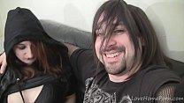 Emo babes having fun with the pulsating boner
