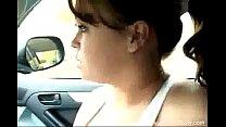 Big Tit Sister Jerks Brother In Car