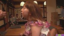 Minami Kitagawa foursome ends in an asian cum facial