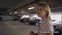 Zelda cocked in a truck parking lot