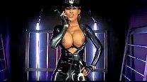 Fernanda Ferrari latex cop nightshow