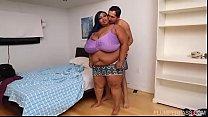 Exotic Ebony BBW Cotton Candi Loves Latino Cock