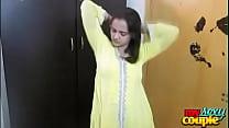 Indian Bhabhi Sonia In Yellow Shalwar Suit Gett...