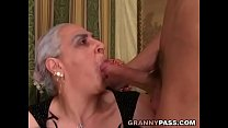 cock young huge sucks Granny