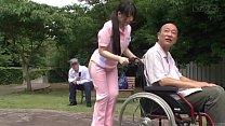 Subtitled bizarre Japanese half naked caregiver... Thumbnail