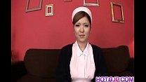 Riana Natsukawa nurse gets two dicks in mouth a...