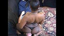 Ebony mistress farts straight to man's face