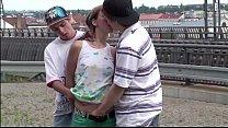 Alexis Crystal Aka Anouk Public Gangbang Group Sex At A Train Station