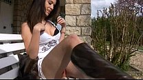 teen Sarah upskirt with red panty