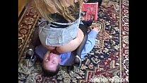 Mistress facesits an ass hole as she demands hi...
