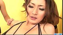 Strong masturbation show for hot Risa Murakami