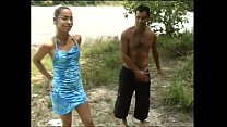 Hot amateur outdoor threesome with a brasilian ... Thumbnail