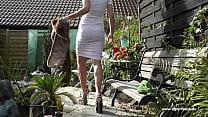 Mom Walking in Extreme Heels, RIP Pantera. See pt2 at goddessheelsonline.co.uk