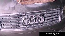 canadian cougar grinds her g spot on her old 79 ford capri
