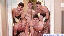 Kinky group amateur jocks rimming