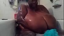 SSBBW black amateur MsBinthere shower Part 2