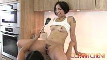CUM KITCHEN: Hairy Asian Lesbians Mia Li & Milc...