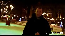 Pretty amsterdam hooker rides a big hard rod passionately Thumbnail