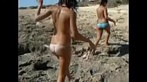 Two sexy busty girls on beach TWF-teenworldforum.com (8)