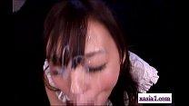 Asian Girl Rubbing Guy Cock With Legs Sucking H...